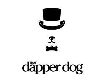 Dapper Dog Logo design - Upscale pet shop, Bachelor blog, clothes horse, fashion hound, clothing retail, dog product review or blog... lots of potential and interpretation with this one! Price $500.00
