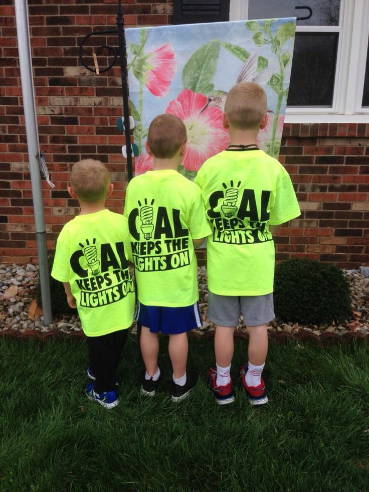 Coal shirts for sale for a Lineman School scholarship for a displaced coal miner