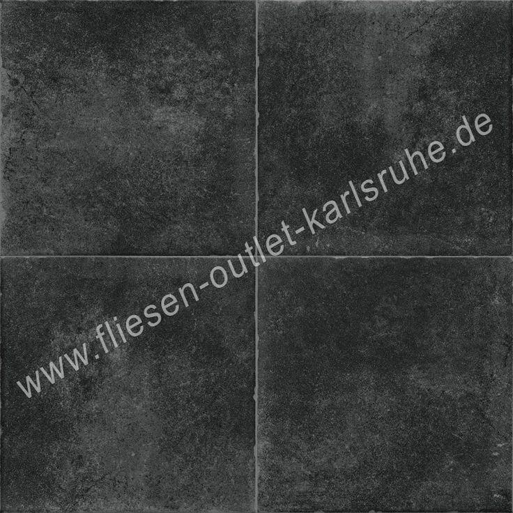 Feinsteinzeug Eco Arkadia Cemento nero 20x20 cm | fliesen-outlet-karlsruhe.de