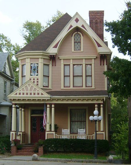 Victorian House Colors C 1896 Is Red With