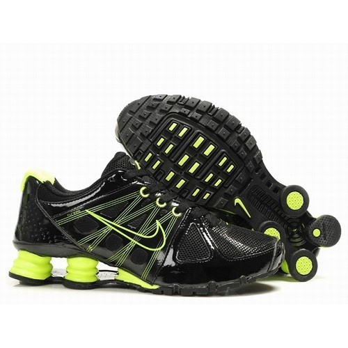 Nike Shox Agent Men Black/Electric Green Shoes 1005 $67.6