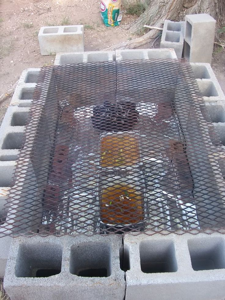Outdoor Cooking Pit Ideas Then Added Another Layer Of