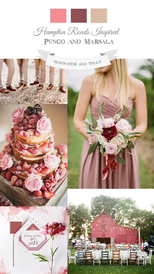 Tidewater and Tulle | A Virginia Wedding Blog: Spring Marsala Wedding Inspiration