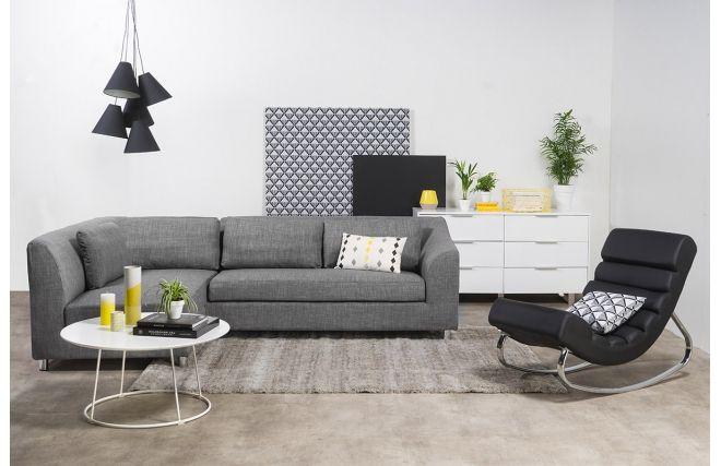 Canapé d'angle convertible gris (angle gauche) MIAMI - Dos