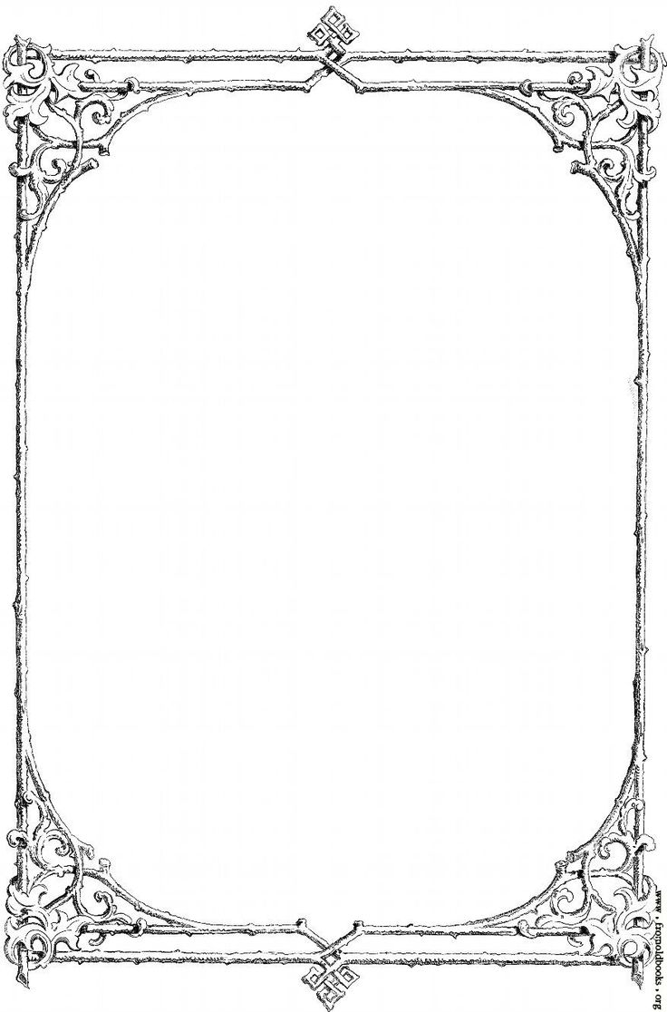 Little loops double page border free page borders - Corner Borders Free Clip Art Victorian Border Of Twigs And Leaves Image