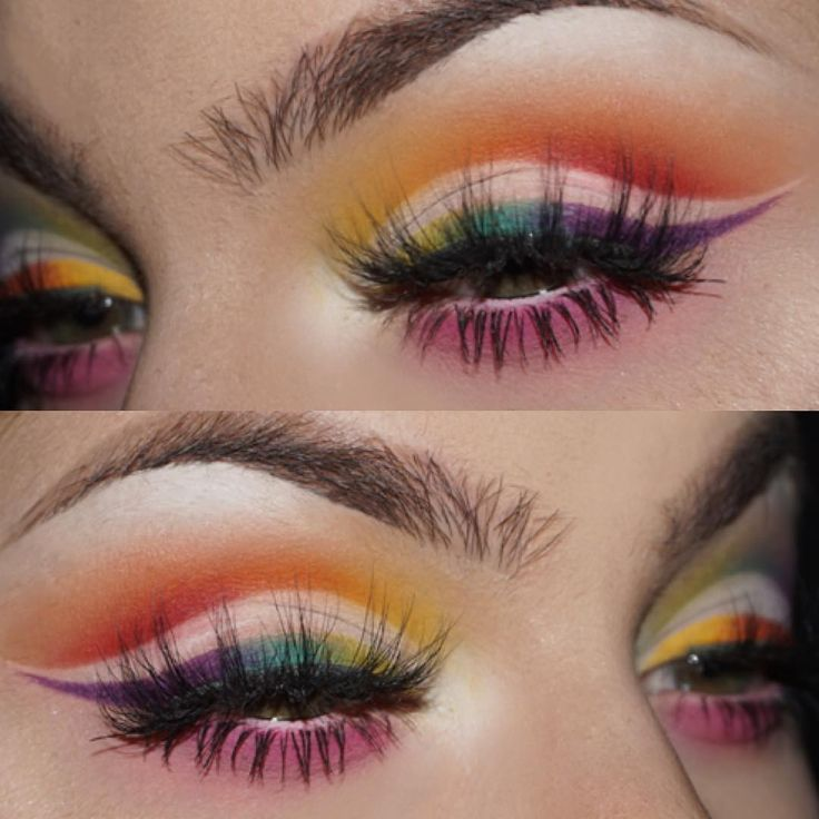 """6,217 Likes, 69 Comments - JANEEN (@janeenersss) on Instagram: """"❤️💛💚💙💜 Pride makeup. Never be scared to be yourself!  EYES: @sugarpill pro palette,…"""""""