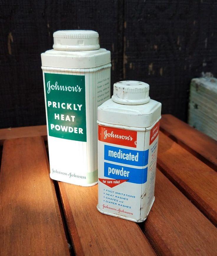 vintage medicine tin Johnson's Prickly Heat Powder Medicated Powder vtg tin   Collectibles, Science & Medicine (1930-Now), Medicine, Dentistry   eBay!