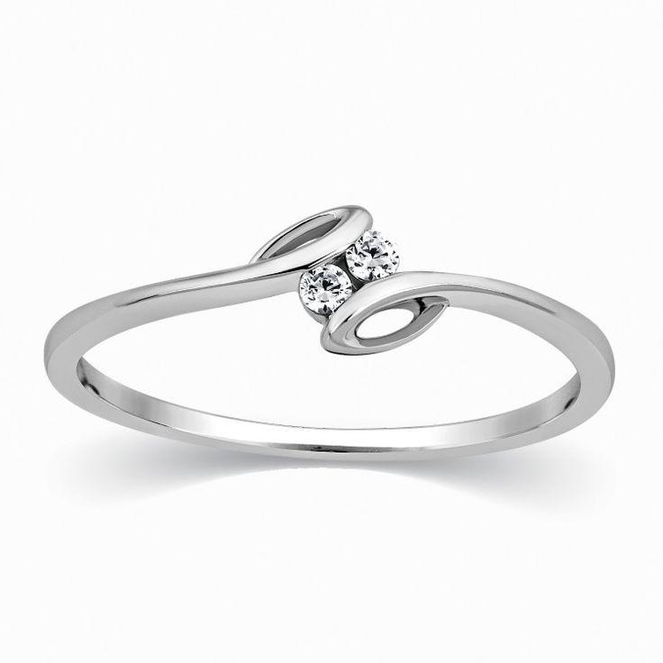 2 Diamond Platinum Ring for Girls SJ PTO 301