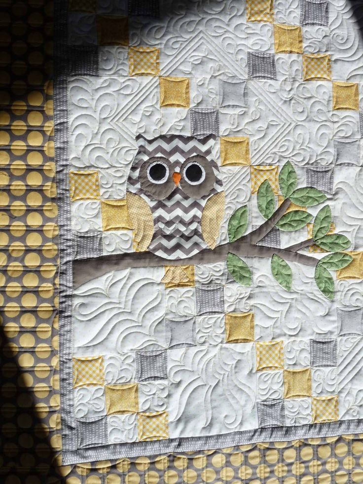 Sewing & Quilt Gallery. Nice touch  The OWL thing is a little over done....to me!  But I sure do like this chevron One! lol