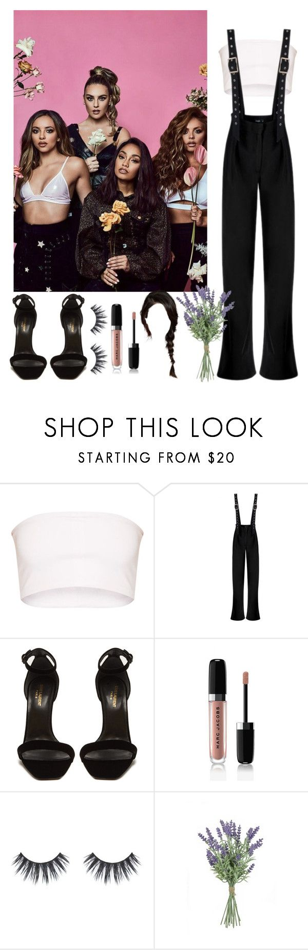 """TMRW Magazine Photoshoot w/ Little Mix"" by sincerlylayla ❤ liked on Polyvore featuring Yves Saint Laurent and Marc Jacobs"
