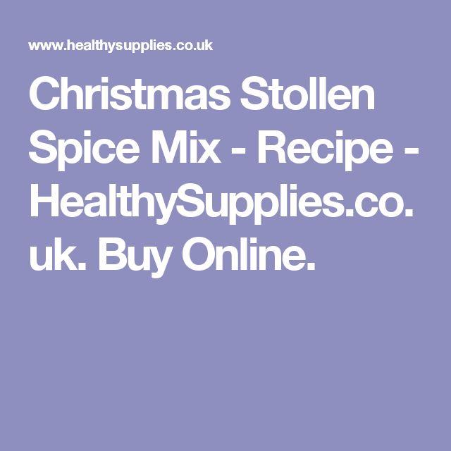 Christmas Stollen Spice Mix - Recipe - HealthySupplies.co.uk. Buy Online.