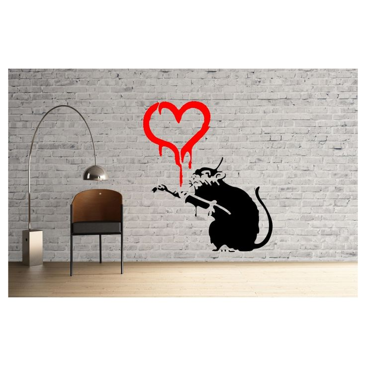 Banksy Love Rat reusable stencil
