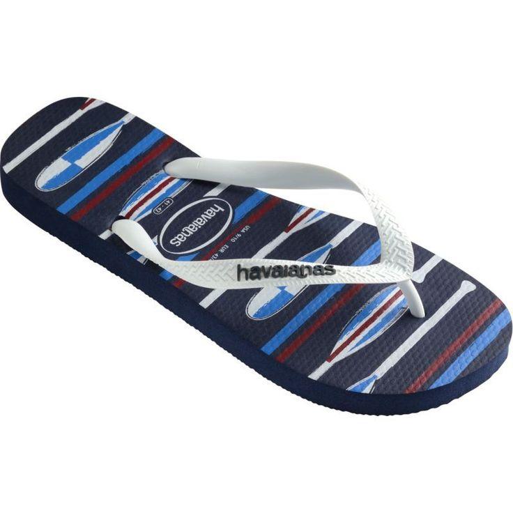 Havaianas Men's Top Nautical Flip Flops, Blue