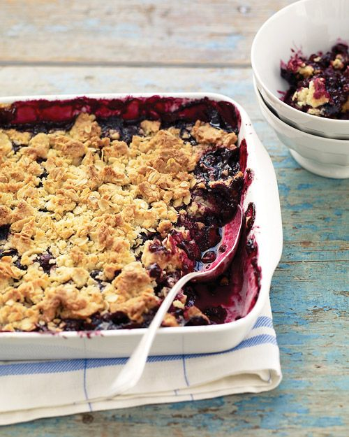 Martha's blueberry crisp! Just saw this on today. Looks easy and delish for memorial day.
