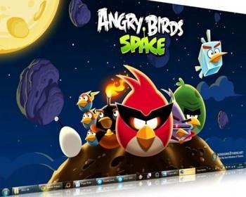 http://windows7themer.com  Angry Birds Space Windows 7 theme @ Windows7themer.com