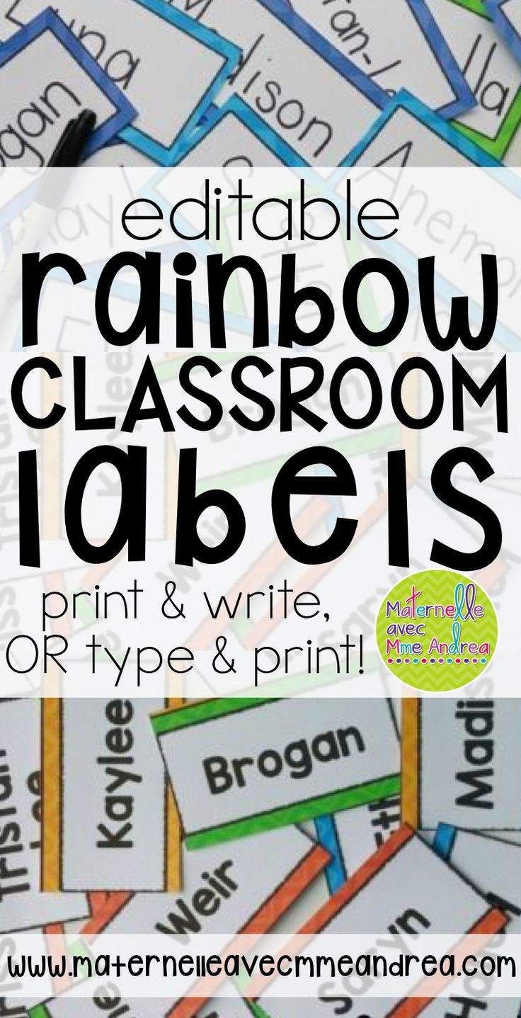 Everything you need to label your FRENCH classroom with a Rainbow theme! Includes Daily Focus Wall labels en français, Word Wall labels, Reading level labels, and editable blank labels in various sizes (rectangles, squares and circles)! Print & write, or type & print - it's up to you!