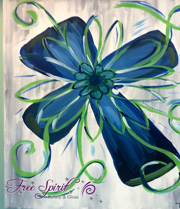 Cross Canvas Painting - Social Art Class #ladiesnight #art #painting
