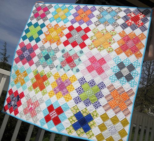 Granny Square Quilt Block Tutorial - Part 1 from Sew Fresh Quilts: Granny Squares baby quilt