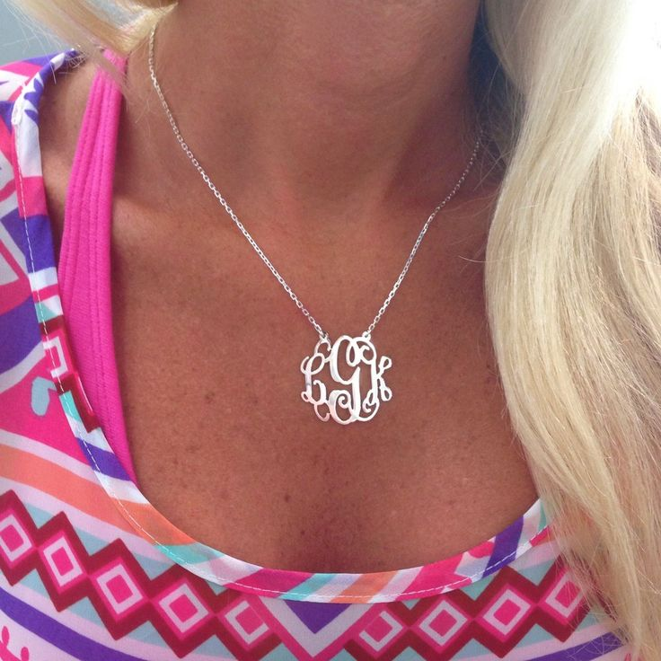 ** SPECIAL ** Jordann Jewelry Monogram Necklace - 1.25 Inch ** ILJA FAVORITE **