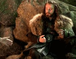Thorin with one dwarf hand.