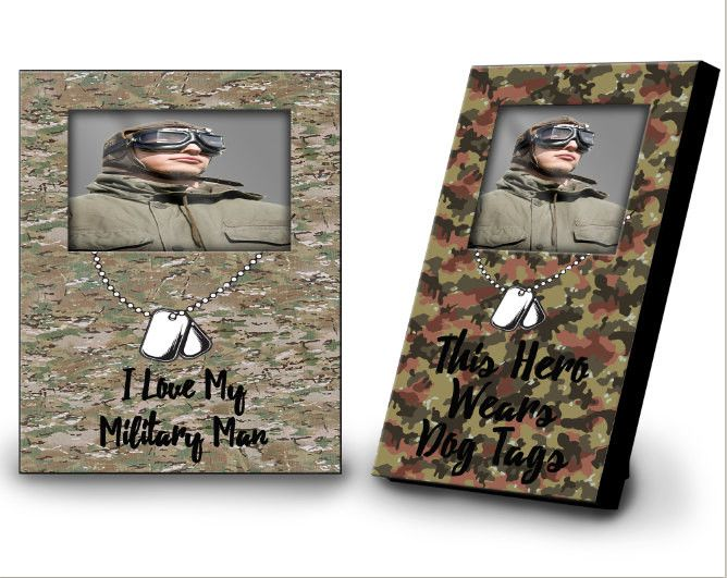 Military Picture Frame - Custom Military Hero Picture Frame - Enlisted Frame - Keepsake Camo Picture Frame - Military Memory Gift - Decor