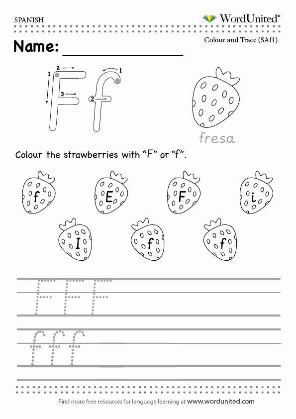 Pin On Worksheets For Kids Spanish kindergarten worksheets