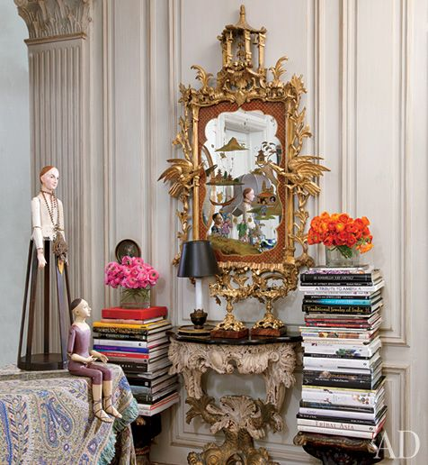 Style Never Gets Old —: Mirror, Irisapfel, Home Interiors Design, Ny Apartment, Style Icons, Irises, New York Home, Stacking Of Books, Iris Apfel
