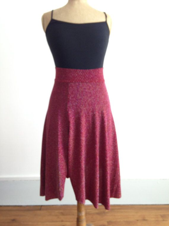 Asymmetric Tango skirt red and sparkles by BellaTango on Etsy