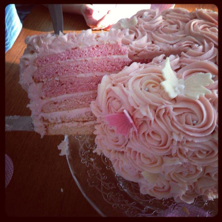 Layered colour cake