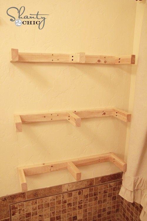 easy diy floating shelves holidays in egypt bathroom remodeling and rustic bookshelf. Black Bedroom Furniture Sets. Home Design Ideas