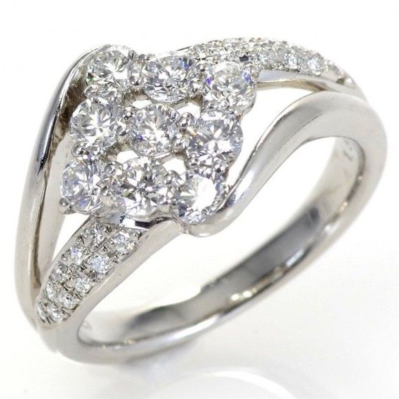 【中古】 Pt900 ダイヤモンド リング/新品同様・極美品・美品の中古ブランド時計を格安で提供いたします。