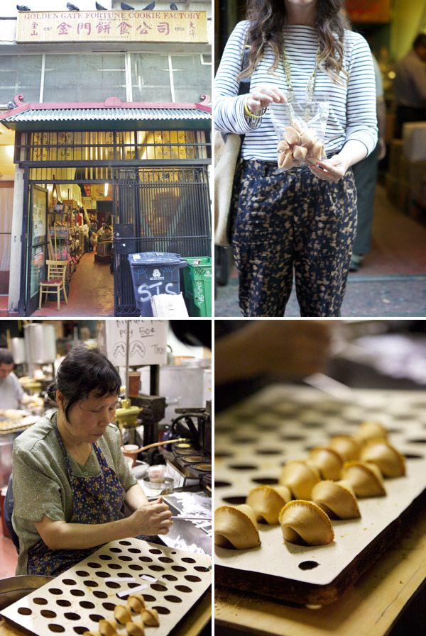 (san fran) Fortune Cookie Factory on Ross Alley.   I like to bring my own fortunes and they make them there on the spot for just a few dollars.