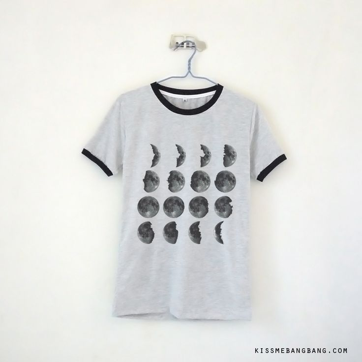 Moonphase Ringer Tee $13.99 ; Moon Calender Shirt ; Graphic  ; #Tumblr ;  #Hipster Teen Fashion ; Shop More Tumblr Graphic Tees at http://kissmebangbang.com/product-category/tumblr-inspired/
