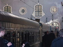 The Trans-Siberian Railway (Транссибирская магистраль Transsibirskaya Magistral) is a network of railways connecting Moscow with the Russian Far East, through Mongolia to Bejing. It is the longest railway in the world.