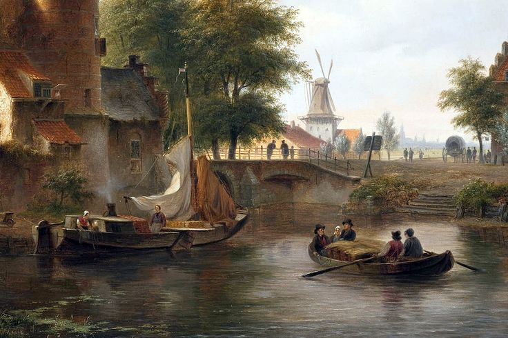 "hove bartholomeus townview probably the hague 1845 dt2 (from <a href=""http://www.oldpainters.org/picture.php?/27528/category/12029""></a>)"