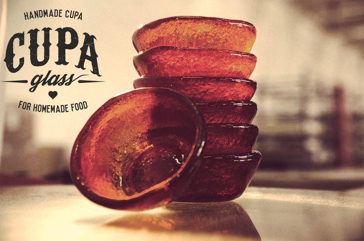 Handmade glass sauce bowls designed by Cupa Glass. Contact us at info@cupa.glass for handmade bistro plates