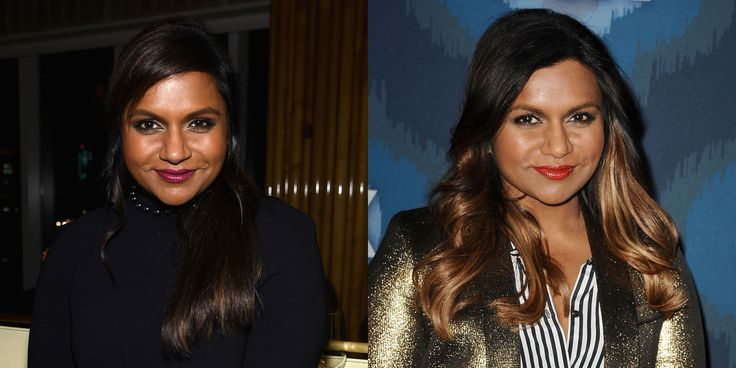 "Mindy Kaling has officially gone blond! The star showed off her new honey streaks at the Fox's Winter TCA All-Star Party Saturday. The gorgeous look was inspired by Rihanna who ""has been rocking blond hair on and off for a long time,"" Kaling told E! Online.   - ELLE.com"