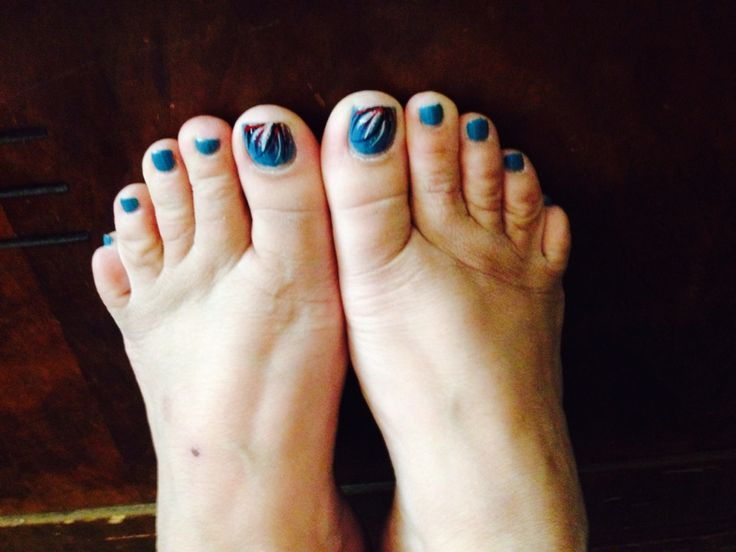 Fancy blue pedicure