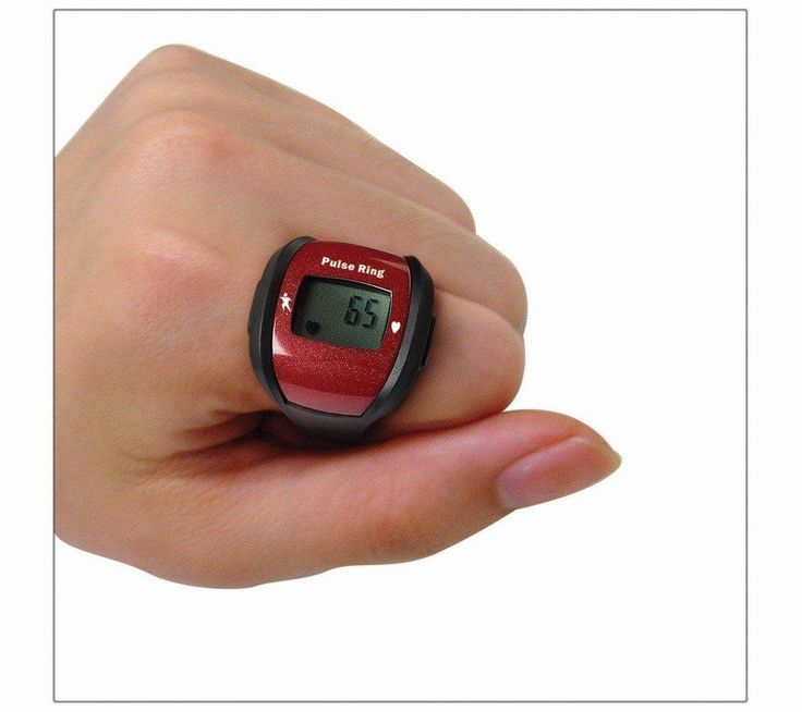 HealthSmart Heart Rate Monitor * Wear on your finger like a ring! Red ...
