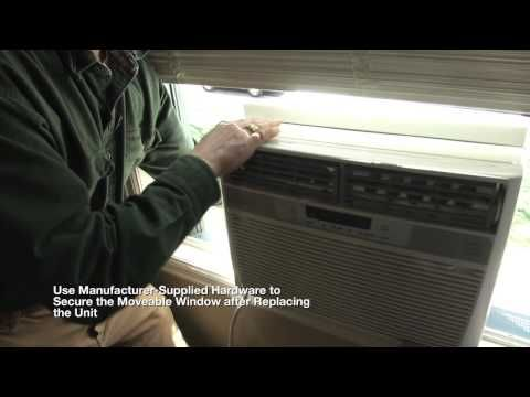 How to install AC Window Unit with horizontal sliding window - YouTube