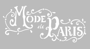 Pochoir Adhésif 30 x 15 cm MODE DE PARIS