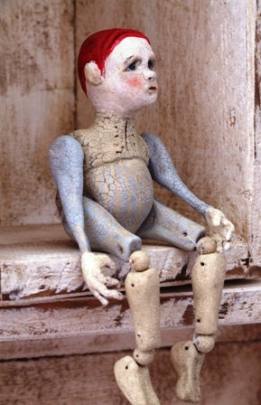 Janek - Original Clay Sculpture Check out the ball joints - great for doll or puppets