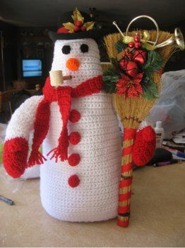 Crochet Snowman Pattern (free)Christmas Crochet, Frosty Snowman, Christmas Crafts, Crochet Projects, Crochet Christmas, Crochet Snowman, Crochet Pattern, Crochet Knits, Crochet Frosty