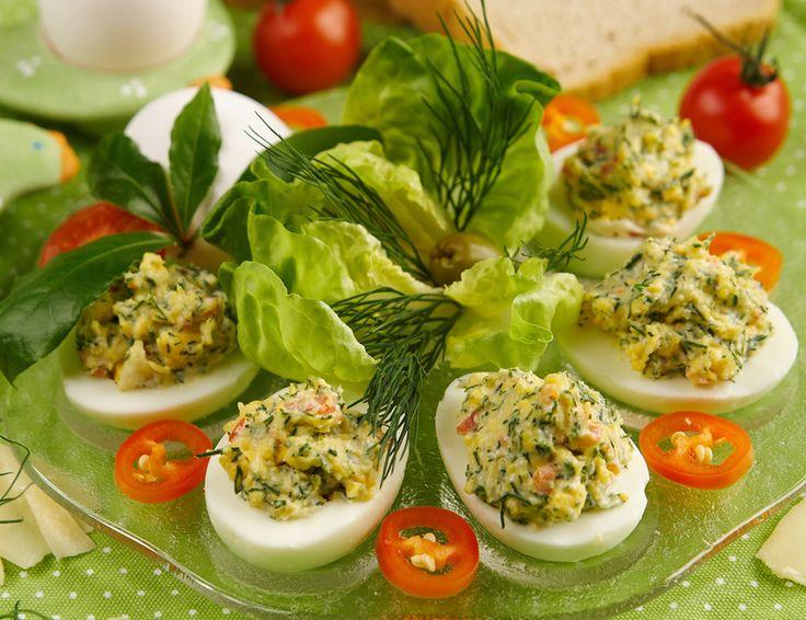 Jajka faszerowane koperkowo-serowe
