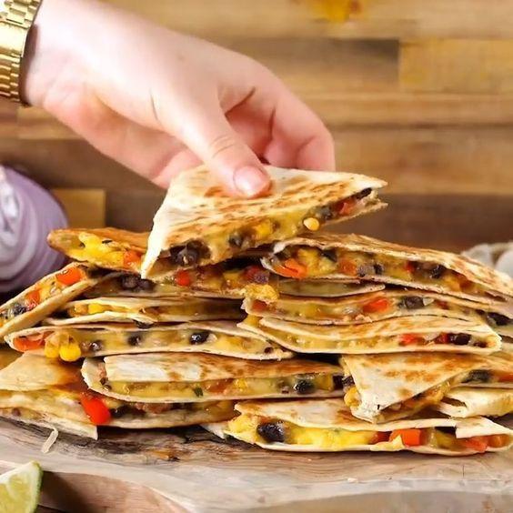 Easy Cheesy Quesadillas Bosh Recipe In 2020 Vegan Dinner Recipes Vegan Mexican Recipes Recipes