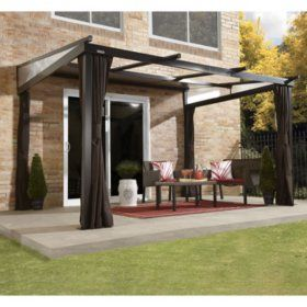 12 X 10 Cedar Pergola Sam S Club In 2020 Patio Gazebo Small Backyard Landscaping Gazebo