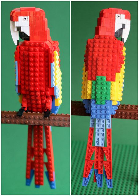 LEGO: Marky the Macaw by Thomas Poulsom | Flickr - Photo Sharing!