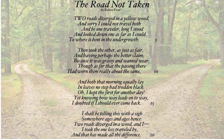 """essay on the road less taken Elements in the road not taken essay even if it meant taking the road less traveled """"the road not taken"""" symbolized meiklejohn's philosophy on education."""