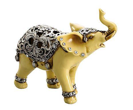 Estátua decorativa elefante solin