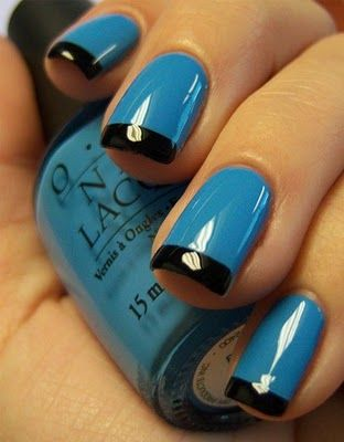 I like to wear blue nail polish, just because someone once told me it looks tacky. :)